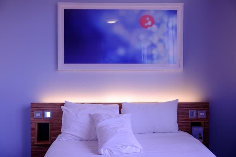 寝心地の良いベッドルーム